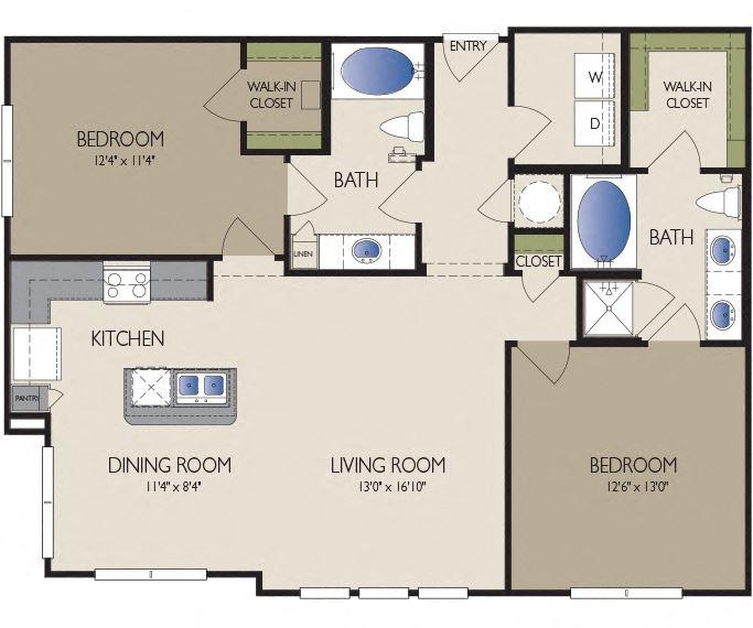 Metro Greenway - Houston, TX - Paris floor plan 1176 sq ft
