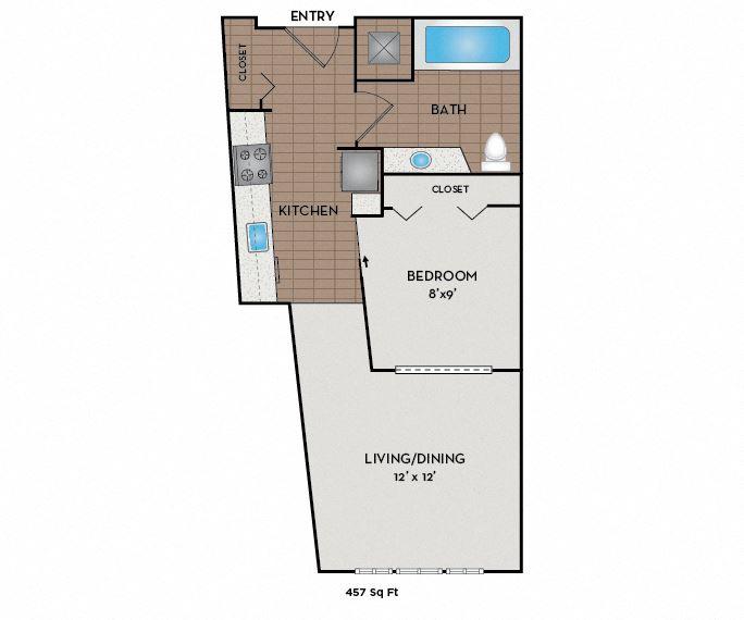 Neptune Apartments - Seattle, WA - Cabin A floor plan
