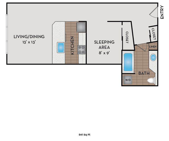 Neptune Apartments - Seattle, WA - The Pearl floor plan
