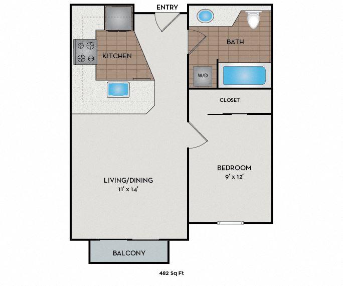 Neptune Apartments - Seattle, WA - The Crest floor plan