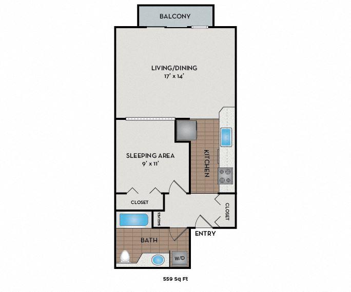 Neptune Apartments - Seattle, WA - The Odyssey floor plan