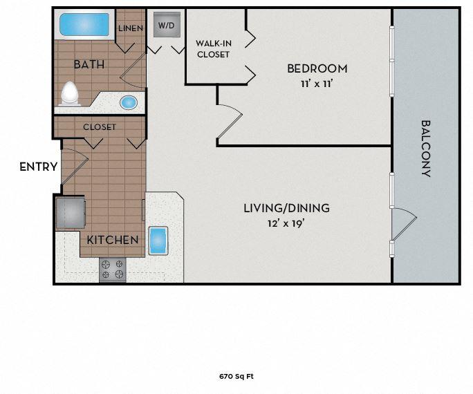 Neptune Apartments - Seattle, WA - The Pier floor plan