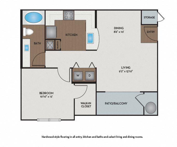 Settler's Ridge Apartments - Austin, TX - Hays Floor Plan 657 Sq Ft