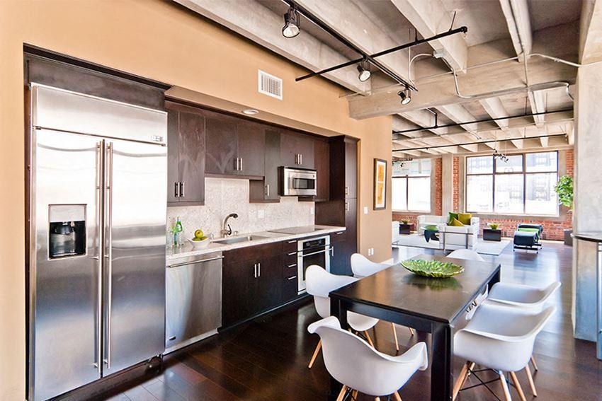 Brockman Lofts Designer Gourmet kitchen Los Angeles CA - Bottega Louie