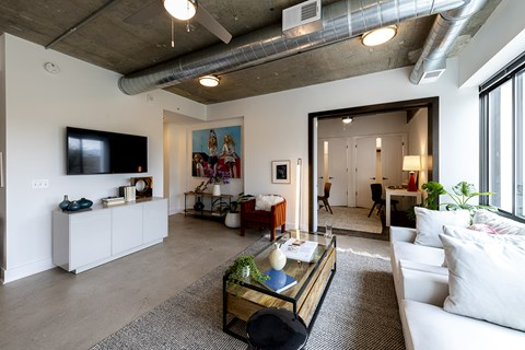 Mission Lofts Apartments TV and Sitting Area