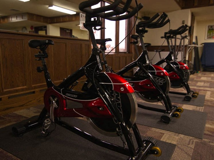 Fitness Center at Tourville Apartments in Marquette, MI