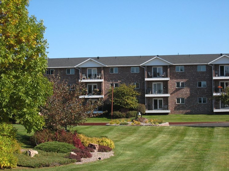 Beautiful Grounds at Tourville Apartments in Marquette, MI