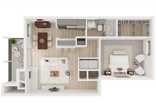C Floor Plan at Toro Place Apartments, CLEAR Property Management, Houston, 77035