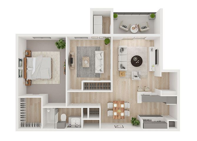 D Floor Plan at Toro Place Apartments, CLEAR Property Management, Houston, Texas