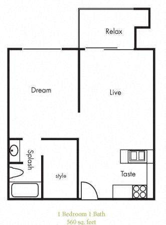 A1 Floorplan at Timbercreek Apartments