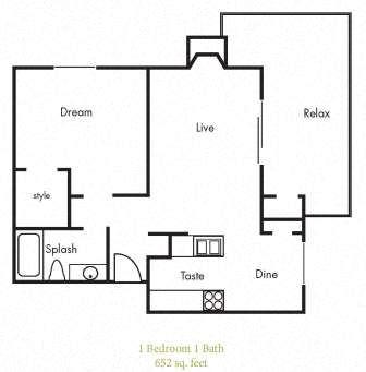 A4 Floorplan at Timbercreek Apartments