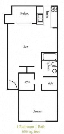 A5 Floorplan at Timbercreek Apartments
