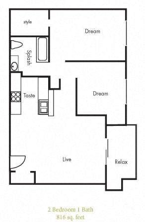 B3 Floorplan at Timbercreek Apartments