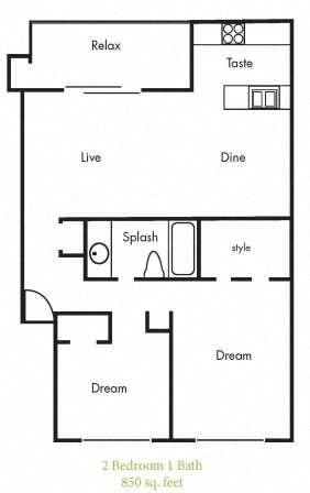 B4 Floorplan at Timbercreek Apartments