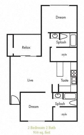 B5 Floorplan at Timbercreek Apartments