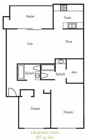 B6 Floorplan at Timbercreek Apartments