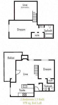 B7 Floorplan at Timbercreek Apartments