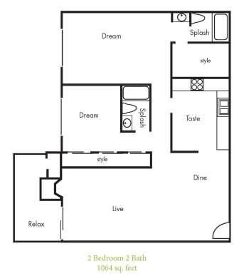 B8 Floorplan at Timbercreek Apartments