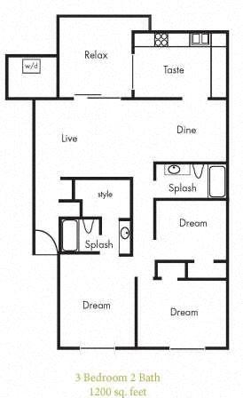 C1 Floorplan at Timbercreek Apartments