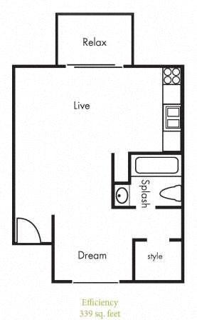 E1 Floorplan at Timbercreek Apartments