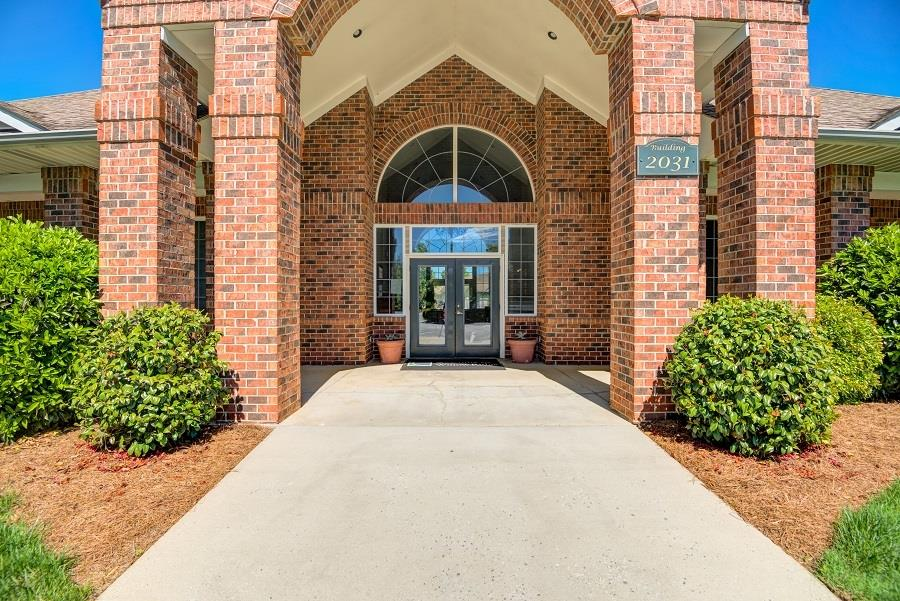 Walkway Leading to the Leasing Office Entrance