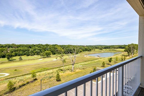 View of golf course from patio