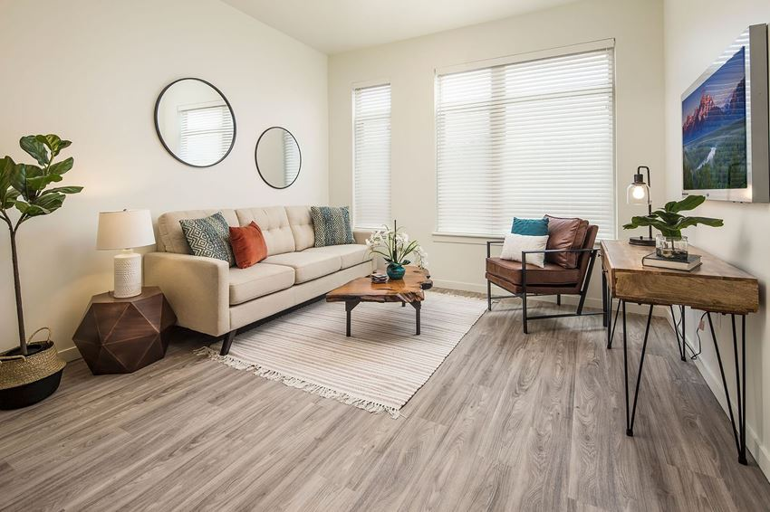 Living Room With Television at Clovis Point, Longmont, 80501