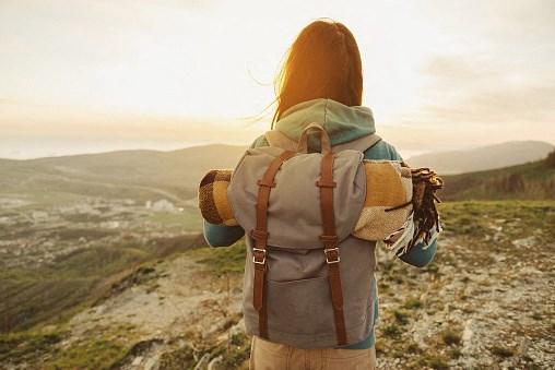 Hiker at Clovis Point, Longmont, Colorado