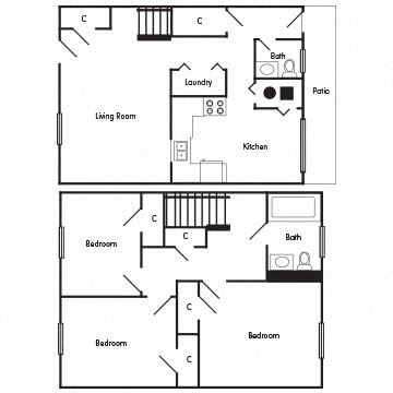 3 Bedroom Townhome: The Oxford