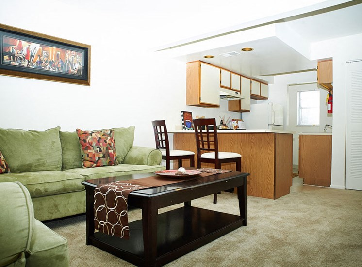 Open-Concept Living Space at Windsor Park Apartments