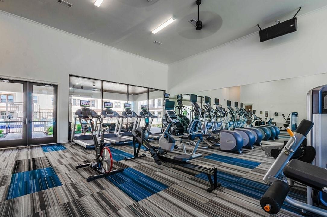 Fitness Center With Modern Equipment at Berkshire Spring Creek, Texas, 75044