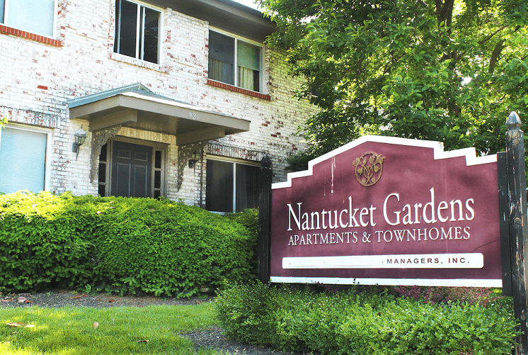 Nantucket Gardens Apartments & Townhomes sign
