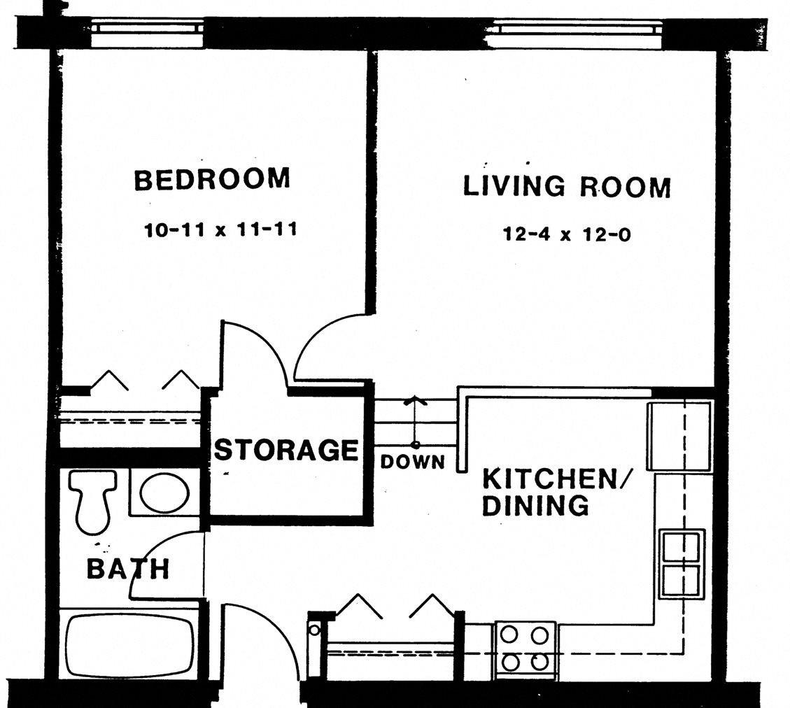 1 bedroom townhouse Floor Plan 4