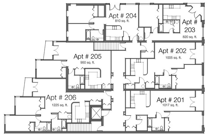 1 Bed 1 Bath Floor Plan 7