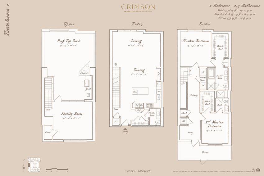 Townhome Floorplan 1