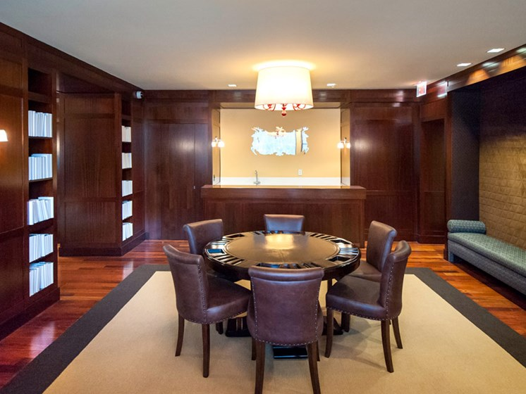 Resident lounge with poker table