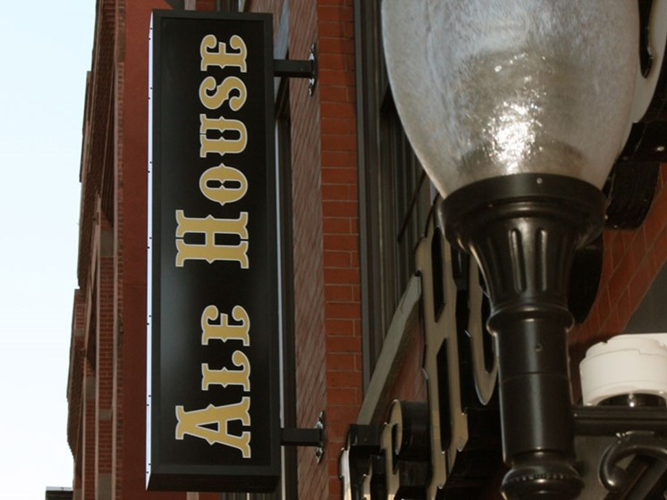 Exterior of local ale house