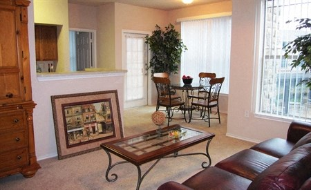 The Mondello Apartments Model Living and Dining Room