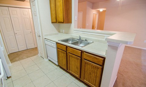 Portofino Senior Apartments Kitchen and Sink
