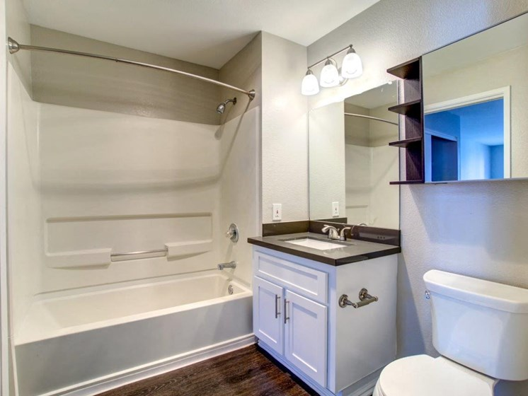 Bathroom in model unit