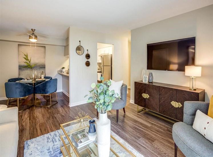 Wood Floor Living Room at Orion Prospect, Mount Prospect, 60056
