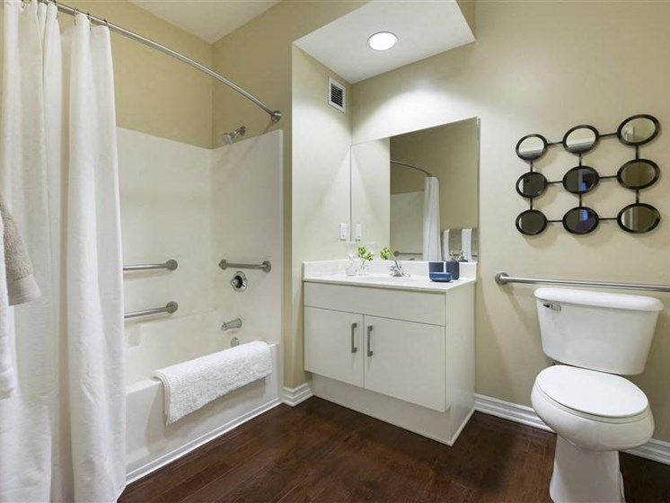 Bathroom with sink and bath