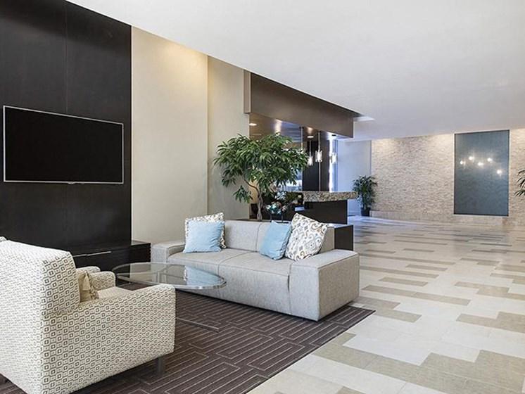 Lobby with tv