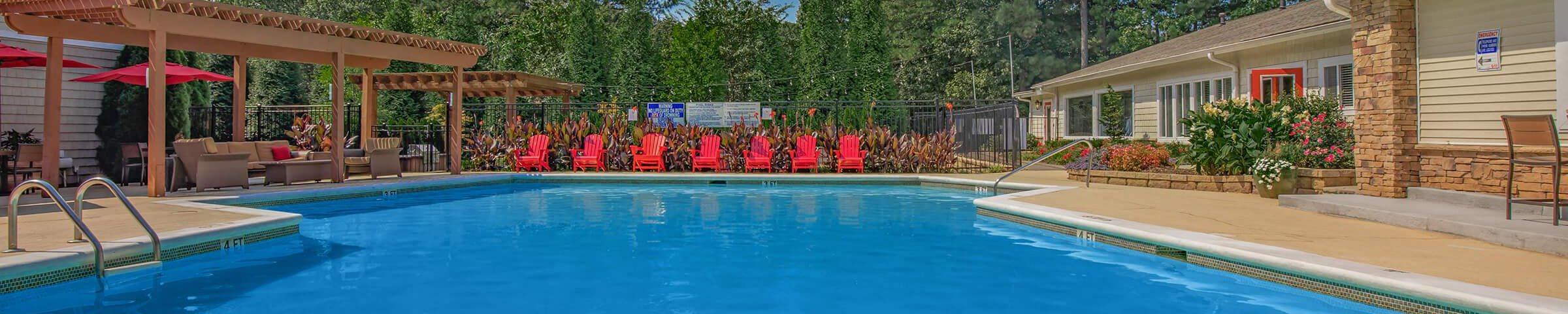 Blue Cool Swimming Pool at Forest Ridge on Terrell Mill, Marietta, GA