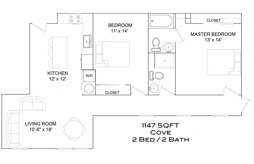 Cove - 2bd/2b/parking A1/balcony