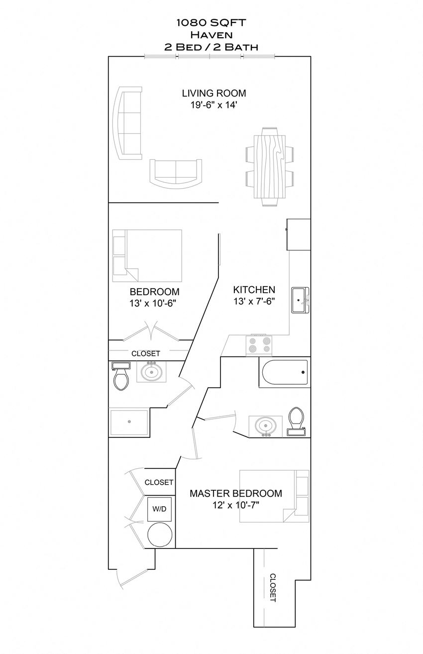 Haven - 2bd/2b/1st floor