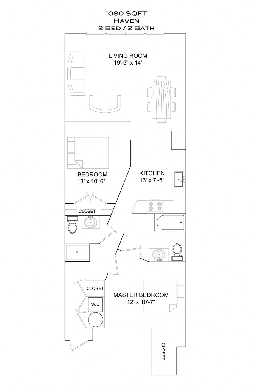 Haven - 2bd/2b/3rd floor