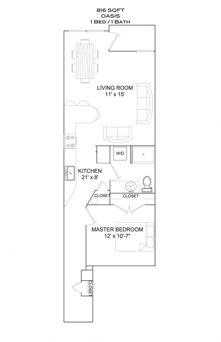 Oasis - 1bd/1b/1st floor balcony