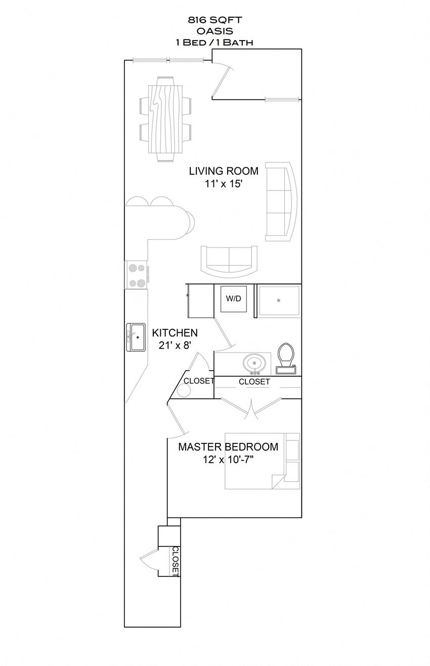 Oasis - 1bd/1b/3rd floor balcony