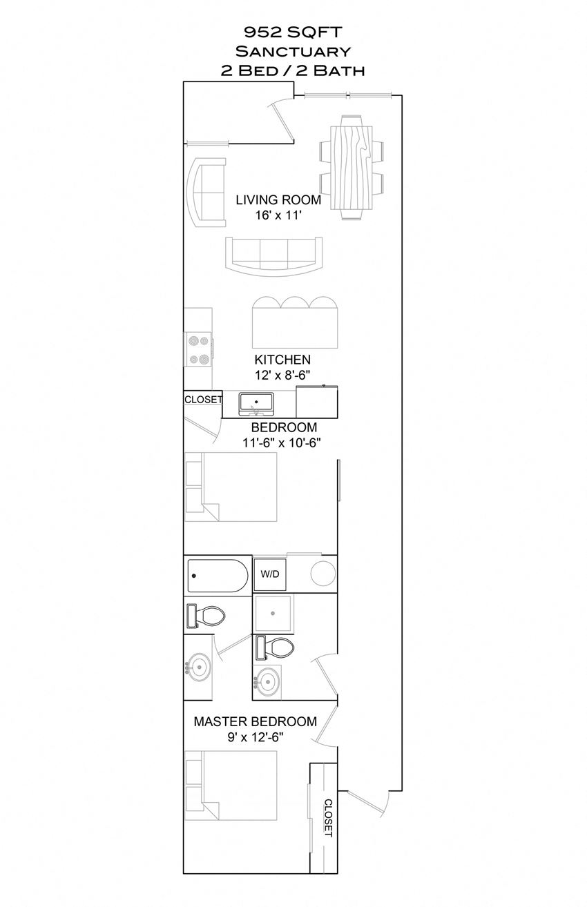 Santuary - 2bd/2b/1st floor balcony